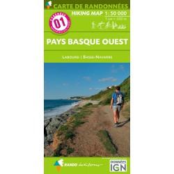 Pays Basque Ouest 1/50 000